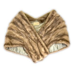 WILKES FURRIERS   Mixed Browns Authentic Fur Stole